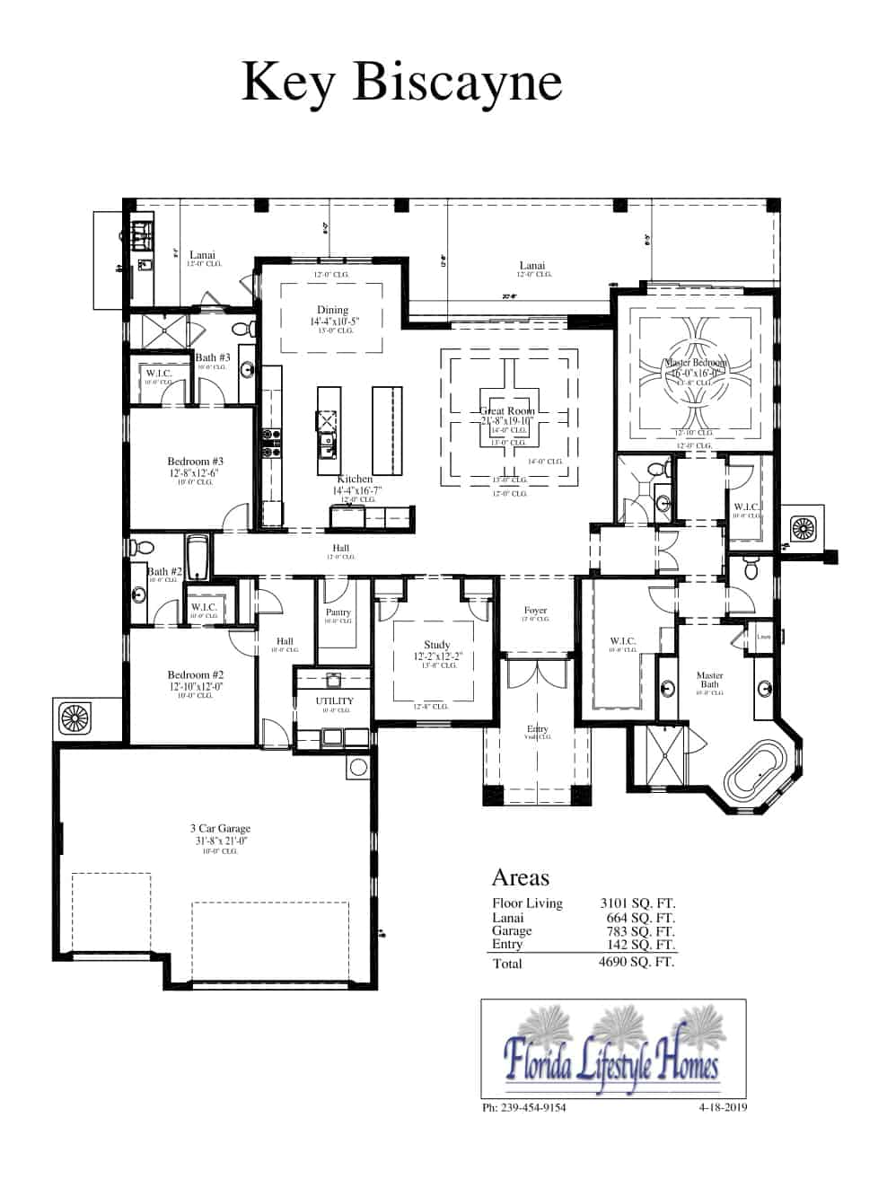 The Key Biscayne - Available Home - 1