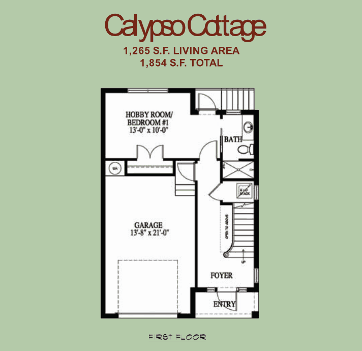 The Calypso Cottage - 1