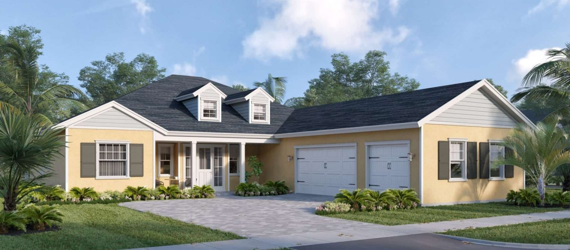 An artist's conception of the Lily Rose, a new model by Florida Lifestyle Homes at Babcock Ranch.